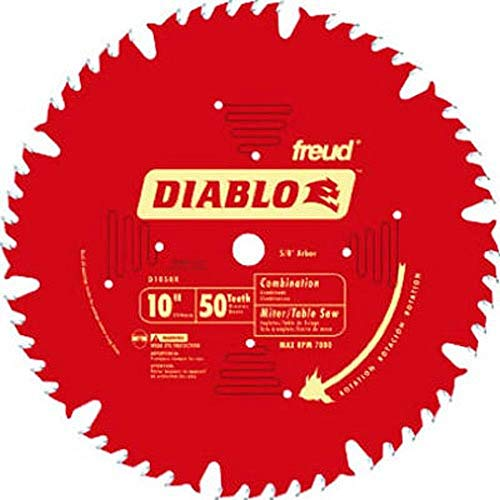 "Freud D1050X Diablo 10"" 50-tooth ATB Combo Saw Blade w/5/8"" Arbor&PermaShield"