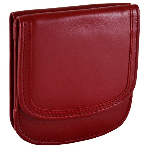 TAXI WALLET Red Small Folding LEATHER Minimalist Card Coin Front Pocket Wallet for Men & Women