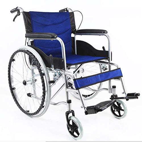 SUZYN Silla de ruedas Hospital de tranvía, Material médico Rack, conducción médica silla de ruedas plegable portátil de asiento blando de ancianos discapacitados con silla de ruedas conductor del carr