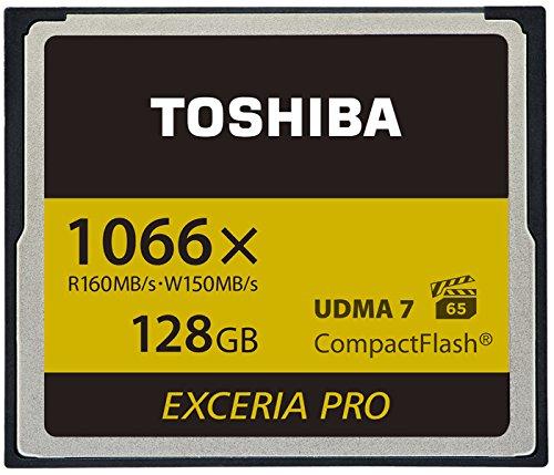 Toshiba EXCERIA Pro C501 32GB Memoria Flash CompactFlash - Tarjeta de Memoria (32 GB, CompactFlash, 160 MB/s, Negro)