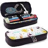 Estuche para bolígrafo de cuero con gafas de sol de helado, bolsa de maquillaje de viaje, estuche para bolsa