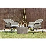 Kiefergarden Bali Conjunto de Dos sillones de ratán sintético Premium con...