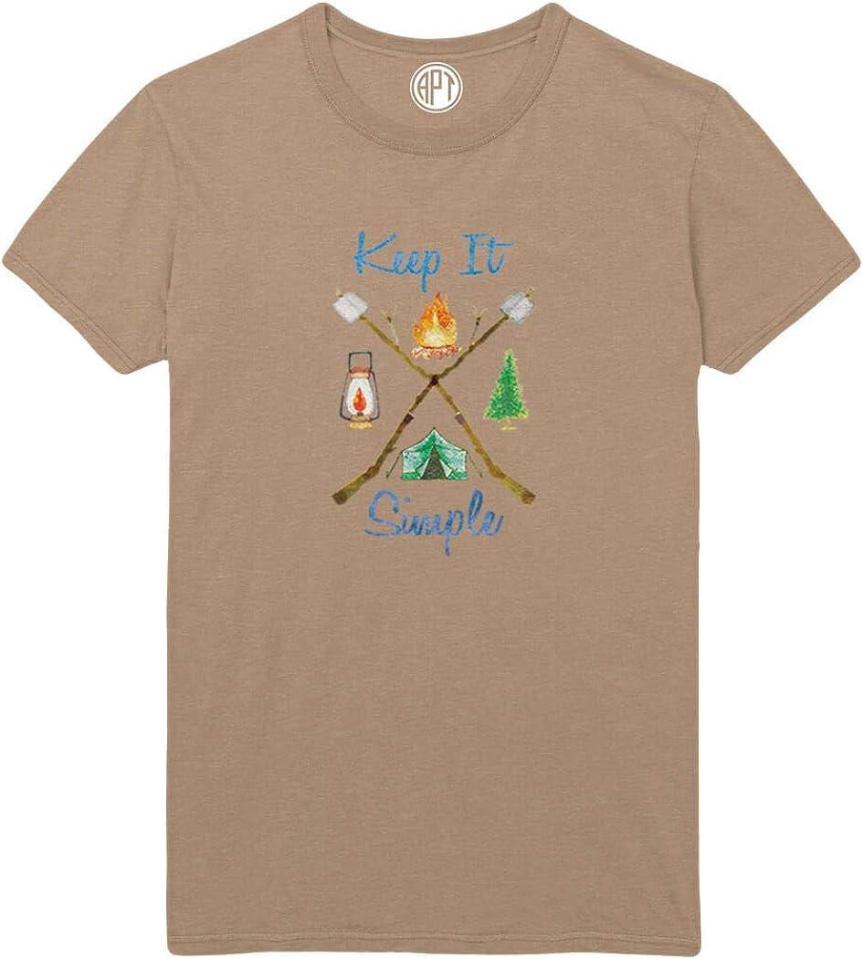 Keep It Simple Camping Printed T-Shirt