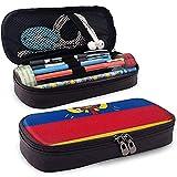 Originality Ecuador Flag Pencil Case - Bolsa de lápiz de cuero PU de alta capacidad Organizador de papelería Bolsa de maquillaje cosmético