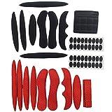 Almohadillas para casco, 2 unidades, almohadillas de repuesto para casco de bicicleta, moto, casco universal, color rojo y negro