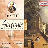 J.C. Bach: Sinfonie Concertanti, Vol. 3 by Budapest Strings