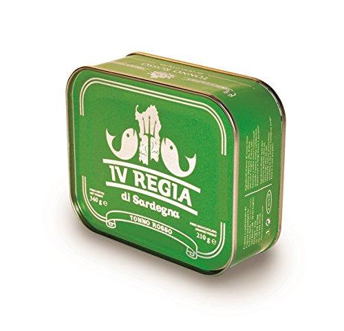 Atún rojo del Mediterráneo en aceite de oliva 340g IV Regia di Sardegna - Hecho a mano en Cerdeña, Italia - Producción artesanal de Cerdeña certificada Kosher