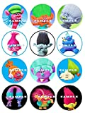 TROLLS: edible cupcake topper birthday decor frosting party decoration sheet premium sheets
