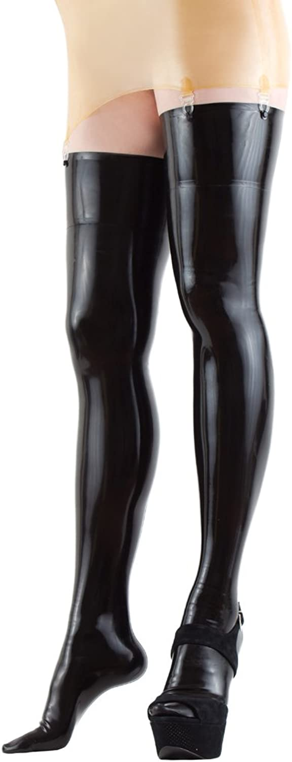 Collective Chaos Latex USA Quality Stockings Thighhighs Black