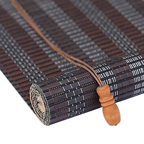 ZLI Premium Bamboo Blinds Curtain - Outdoor Patio Gazebo Pergola Carport Roll Up Shade, 60cm/80cm/90cm/100cm/120cm/140cm Wide (Size : W 80×H 100cm)
