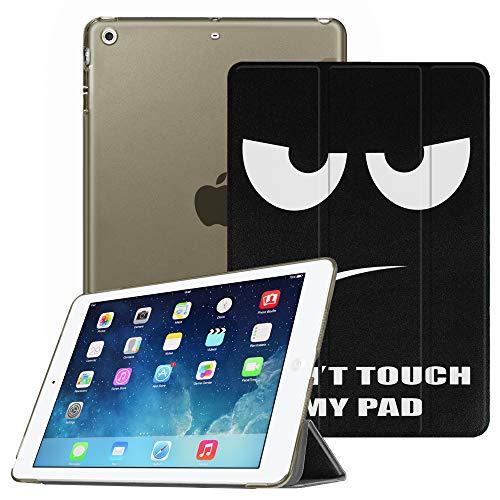 Fintie Hülle für iPad Air 2 (2014 Modell) / iPad Air (2013 Modell) - Superdünne Superleicht Schutzhülle mit Transparenter Rückseite Abdeckung mit Auto Schlaf/Wach Funktion, Don't Touch