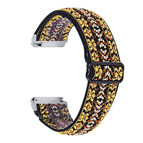 Banda de Reloj de Tela elástica para Fitbit Versa 1 2 Versa Lite Ship Mush STRUP para Fitbit Versa 3 Piezas de Bucle de la Pulsera de Sense MingYuChangHu (Color : W, Size : For Fitbit Sense)