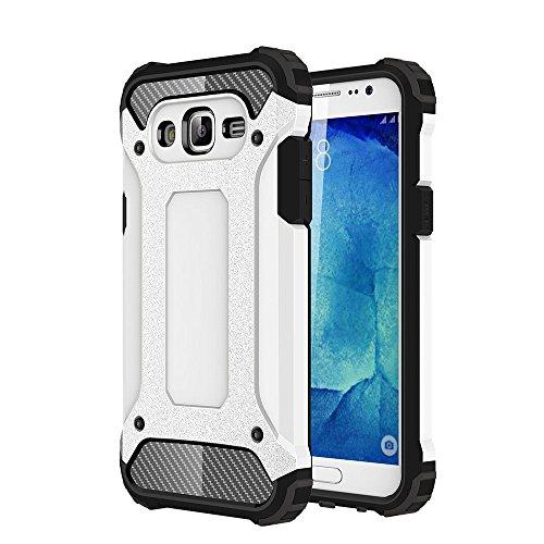 Skitic Armadura Funda para Samsung Galaxy J5 2015 (SM-J500F), 2 IN 1 Híbrido Carcasa Dura Resistente a Prueba de Golpes Doble Capa Protección Funda Teléfono Protector para Samsung Galaxy J5 2015