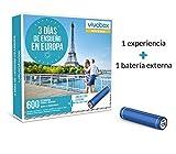 VIVABOX Caja Regalo -3 DIAS DE ENSUEÑO EN Europa- 600 estancias.Incluye: batería Externa Smartphone
