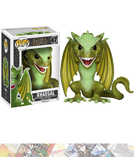 Game of Thrones Rhaegal: ~6' Deluxe Funko POP! x Vinyl Figure + 1 Free Official Trading Card Bundle [48518]