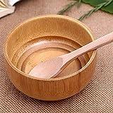1 unid chino bambú cuenco creativo cocina redondo ecológico especia natural hecho a mano hecha hecha a mano cuenco cocina gadget conjunto herramienta Regalos veganos ecológicos