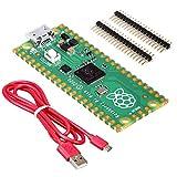 BerryBase - Raspberry Pi Pico - Light Starter Kit, bestehend aus Raspberry Pi Pico, offiziellem Kabel & Stiftleisten