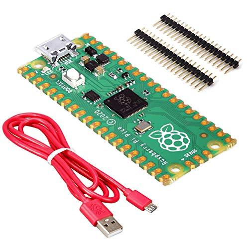 BerryBase - Raspberry Pi Pico - Light Starter Kit, bestehend aus Raspberry Pi Pico, offiziellem Kabel und Stiftleisten