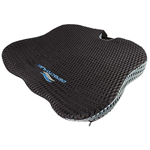 DefactoFlex Wedge Seat Cushion for Car and Truck Seat Cushion - High Density Memory Foam - Coccyx and Sciatica Pillow - Slimmer Design