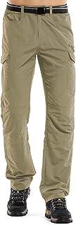 Jessie Kidden - Pantalones de senderismo para hombre, de secado rápido, livianos, con cremallera, para pesca al aire libre, viajes, safari