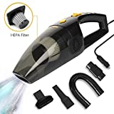 Dealcrox New High Power Handheld Car Vacuum Cleaner for Car Dry and Wet DC12V (Black)