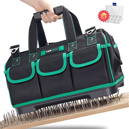 AIRAJ16 Zoll Werkzeugtasche Aufbewahrungstasche, wasserdichte Werkzeugtasche, verstellbarer Schultergurt, Haushaltswerkzeugtasche zur Aufbewahrung von Elektrowerkzeugen und Handwerkzeugen