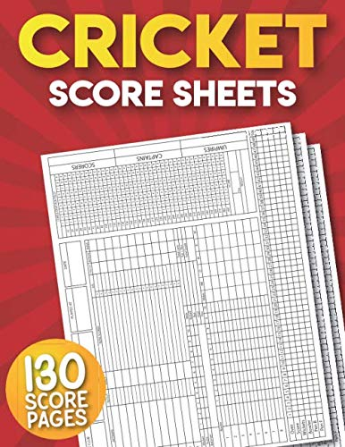 Cricket Score Sheets: 130 Large Score Pads for Scorekeeping | Cricket Scorebook.