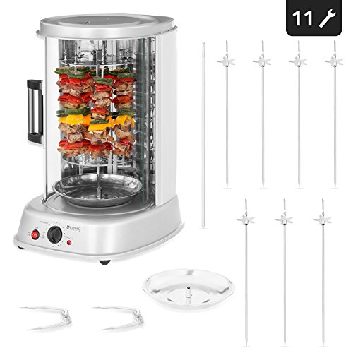 Royal Catering Rotissoire Verticale Professionnelle Grill Vertical Electrique RCGV-1800-1 (3-in-1, Puissance 1.800 W, Temperature...
