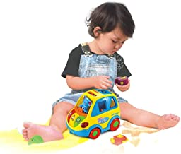 Mopoq Smart Bus Electric Universal Walking Puzzle Hands-on Assembly Shape Matching Toys Cultivate Baby Cognitive And Concentrated Deformable Infant Music Car