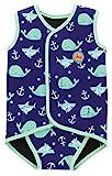 Swimbubs Baby Swimming Wrap Kleinkind Neoprenanzug Jungen Warmsuit Mädchen UV-Badeanzug (6-18 Monate, Blue Whale)