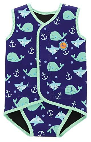 Swimbubs Envoltura de natación para bebés Traje de Neopreno Traje de Abrigo para niños Traje de baño UV para niñas (18-30 Meses, Blue Whale)