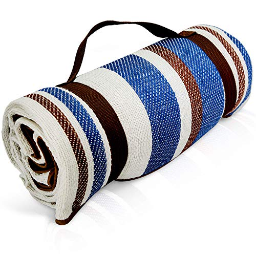 Scuddles Picnic Outdoor Blanket Roll Up Blanket Beach Mat for Camping on Grass Oversized Seats Adults Water Resistant Picnic Mat 58 x 75