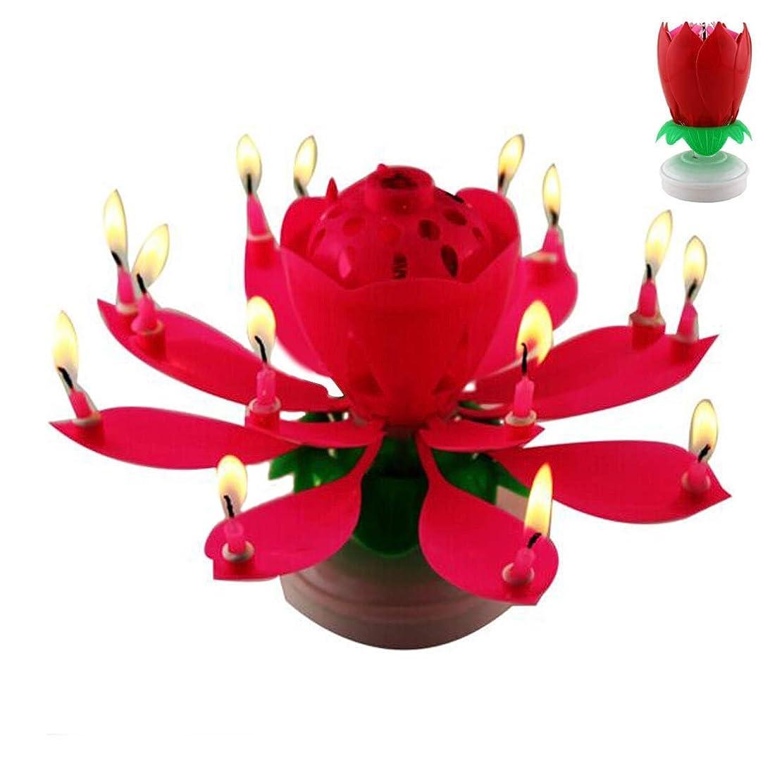 収まる規制するフォーラムamezing hobby お祝い 用 キャンドル パーティー 誕生日 祝い会 インテリア 蓮の花 ケーキ 装飾 音楽 キャンドル デラックス インテリア 回転 ケーキ クリスマス バースデー (レッド)