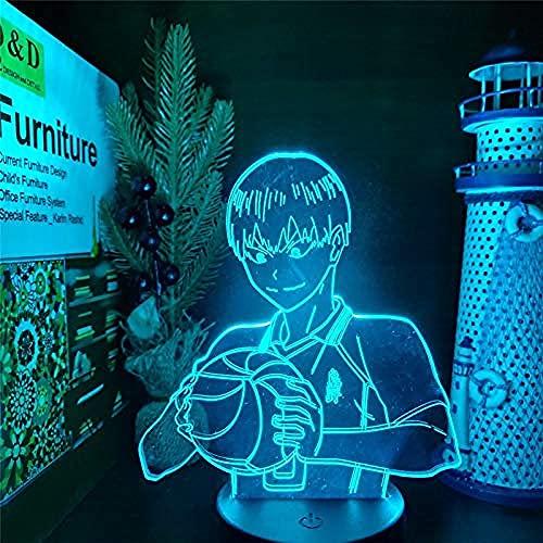 Anime 3D luz de la noche Haikyuu Kageyama Tobio lámpara LED decoración del hogar Iluminación niños Navidad regalo de cumpleaños lampara de Noche Dormitorio-con remoto