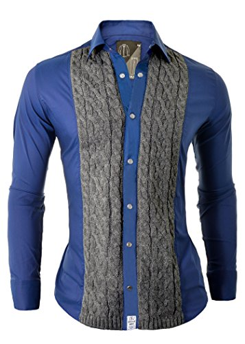 Redbridge RBC by Cipo /& Baxx Men/'s Shirt Casual Regular Fit Embroidered