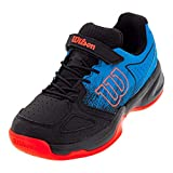 Wilson KAOS Junior Tennis shoes, Hawaiian Surf/Black/Fiery Coral, 1.5