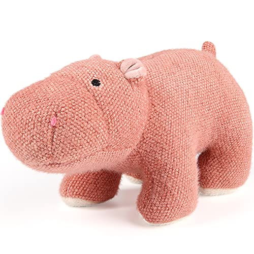 """11.8"""" Pink Baby Hippo Stuffed Animal - Small Plush hippopotamus Toy for Toddler, Kid - Huggable Body Pillow for Little Boy, Girl - Gift for Birthday, Christmas, Baby Shower - Wrinkle Free and Washable"""