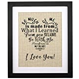 Corfara Gifts for Mom - Framed Special Love Heart Poem Burlap Print 11' W X 13' H - Birthday Gifts for Mom from Daughter or Son, Mom Gifts for Christmas, Mothers Day, Wedding