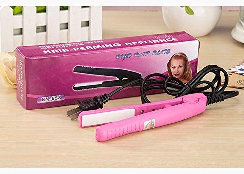 Alisador de cabello de cerámica trenzado fácil de controlar y rizador de pelo 2 en 1 para un calentamiento rápido para crear un cabello suave y lustroso
