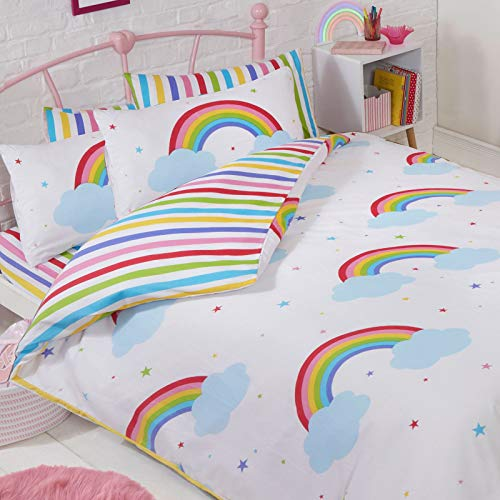 Price Right Home Rainbow Sky Double Duvet Cover and Pillowcase Set