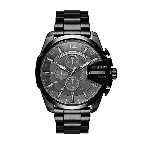 Diesel Men's DZ4355 Mega Chief Black Ip Watch