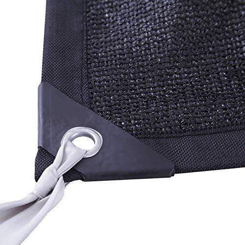 WZF Schattentuch 8-polige verschlüsselte Isolierung Sonnenschutznetz 90% Sonnenschutzschwarz für Gartenpflanzen Pool Autohaus (Größe: 5x10M)