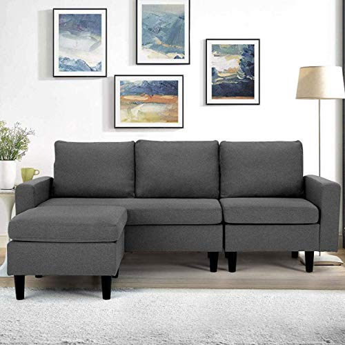 Esright Convertible 3-seat Sectional Sofa Couch