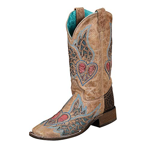 CORRAL Purple Cross and Wings Rodeo Collection Boots 9