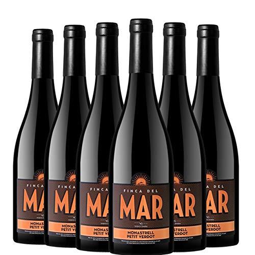 Finca del Mar Monastrell Petit Verdot Vino Tinto D.O. Valencia 6 Botellas - 750 ml