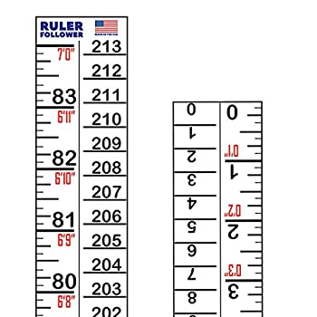 Height Indicator Adhesive Ruler - American-Made 7 Foot Ruler on a Sticker Roll