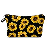 Sunflower Cosmetic Bag,Makeup bags for women,Adorable Roomy Makeup Bags Travel Waterproof Toiletry...