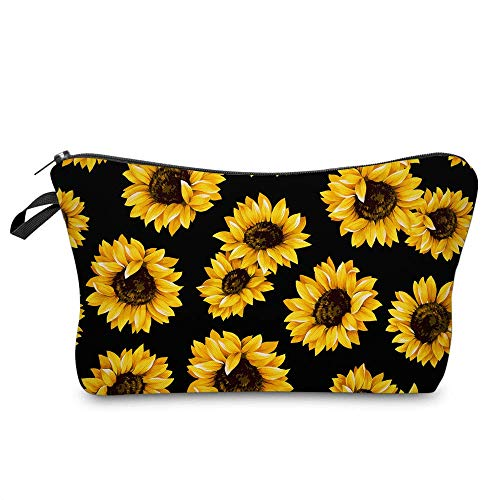 Sunflower Cosmetic Bag,Makeup bags for women,Adorable Roomy Makeup Bags Travel Waterproof Toiletry Bag Accessories Organizer Gifts (1 pcs)