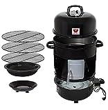 Beeketal 'BRO-V8e' Smoker Räucherofen elektrisch aus Stahl inkl. 3 Roste, bis 200 °C stufenlos einstellbar, Innenraum Thermometer, Räuchertonne auch zum kalträuchern - Maße (B/H): ca....