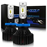 HOCOLO H8 H11 H9-LED Headlight Bulbs 8,000LM Extremely Bright All-in-One Conversion Kit Xenon Cool White -(T8 Type-8000Lumen/Set White 6500K, HOCOLO_H8_Fog/Low Beam)